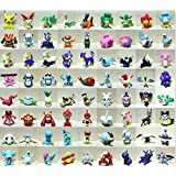 144 pcs/set Pokemon Figures Toy Cartoon Anime Mini Pokemon Action Figures Children's Toys Birthday Gifts Mixed 2-3cm