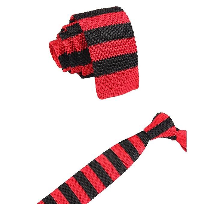 Cdet Corbata Hombre Tie Corbata de clásico Estilo de Rayas ...