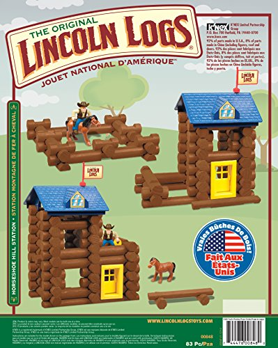 Review LINCOLN LOGS – Horseshoe Hill Station – 83 Pieces – Ages 3+ Preschool Education Toy