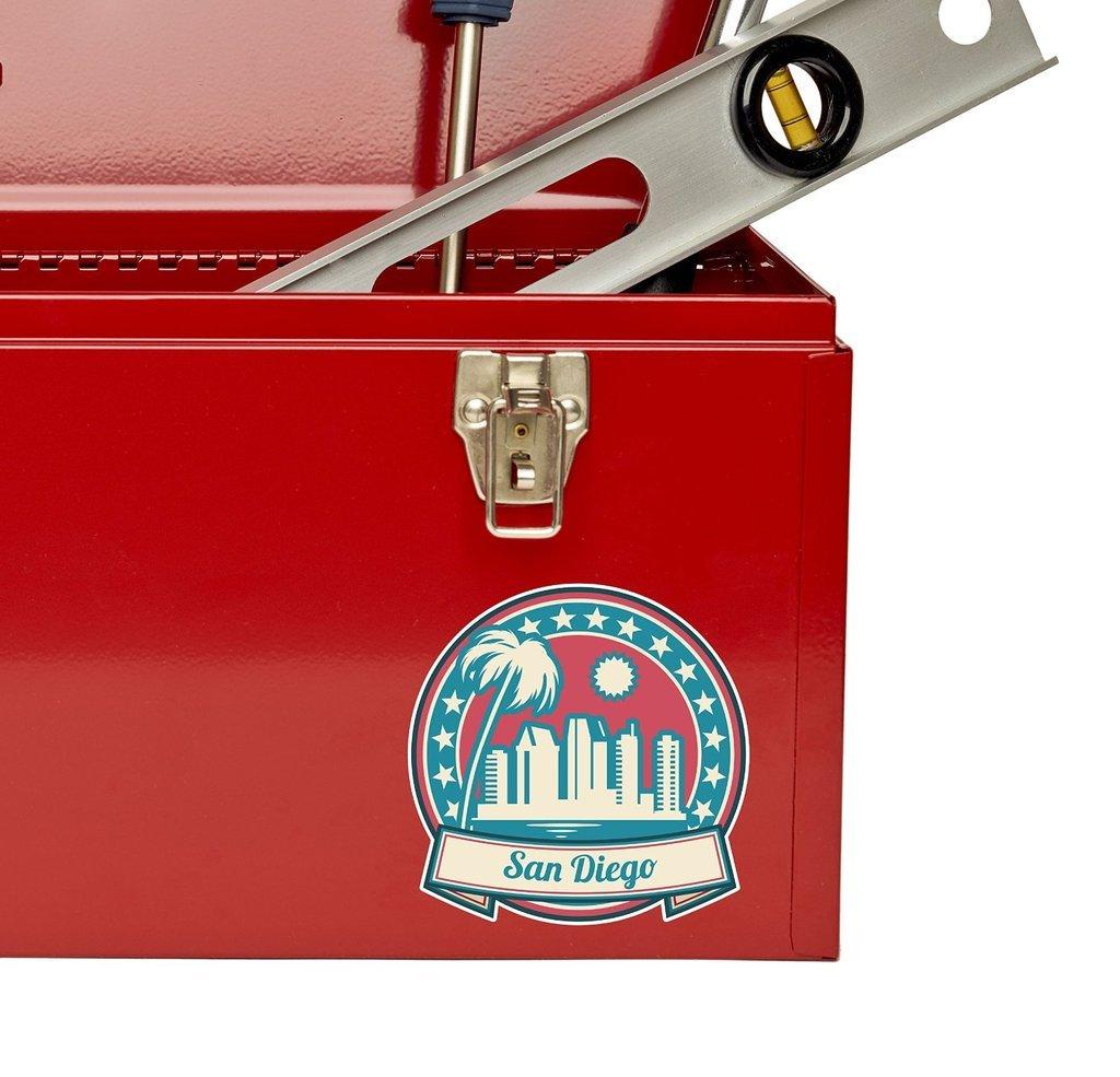 2 x San Diego California USA Vinyl Sticker Laptop Travel Luggage Car #5965
