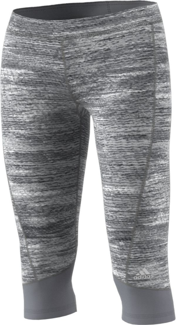 adidas Women's Techfit Capris, Grey Heather, X-Small