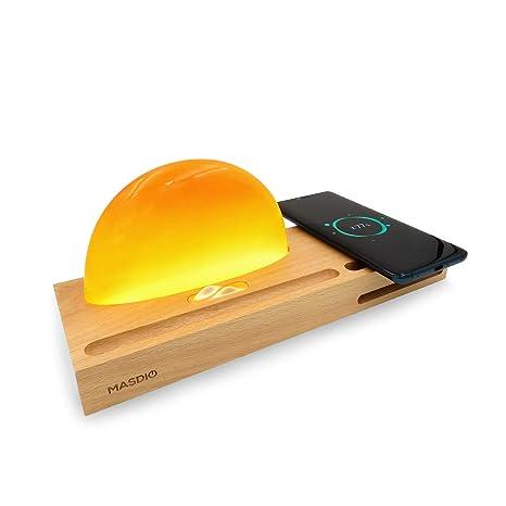 Amazon.com: Sunrise - Lámpara de noche con cargador ...