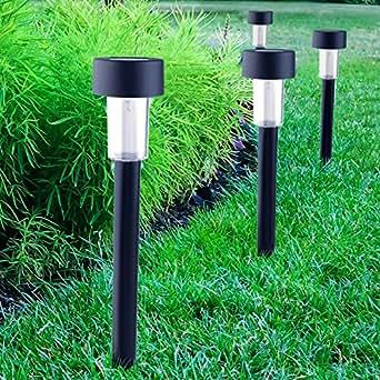 Cellay Solar-Powered LED Garden Lights Perfect Neutral Design Makes Garden Pathways Landscape Lighting