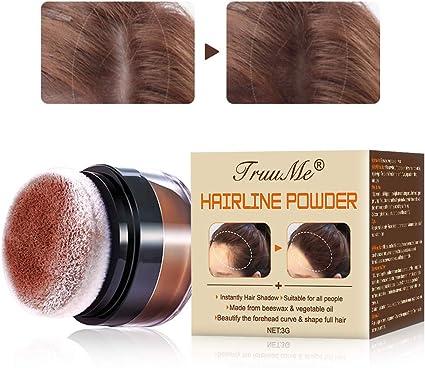 Hairline Powder, Hairline Shadow, Hairline Shadow Powder, Preparación en Polvo/Corrector/Corrector Para Espesar el Cabello Para Hombres y Mujeres, 3g ...