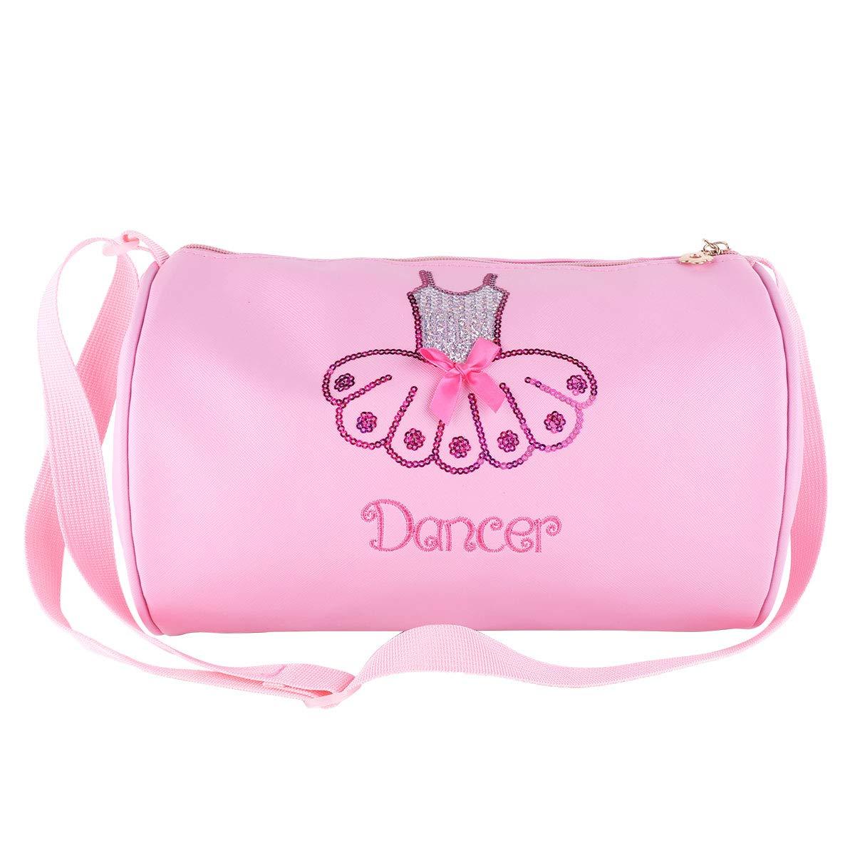 iiniim Ballet Bag Girls Handbag Ballet Dance Shoe Bag Ballerina Bag Kids Embroidery Shoulder Bag Pink One Size