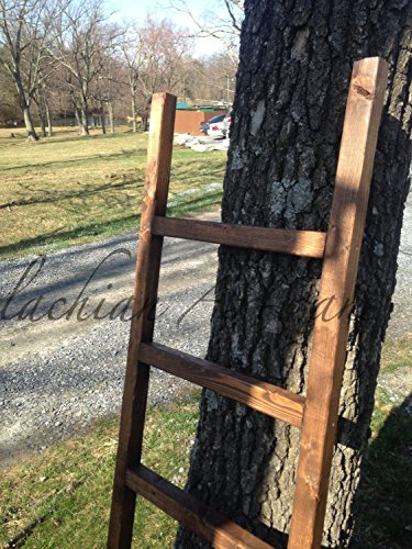 Rustic Ladder, 60'' Distressed Blanket Ladder, Quilt Ladder, Ladder Shelf, Pot Rack, Custom Built by The Appalachian Artisans
