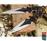 8'' 2 PC COMBAT AXE GUARD THROWING KNIFE SET w/ SHEATH Tactical Military Combat SL + free eBook by Only US