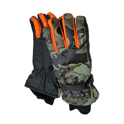 Aquarius Boys Green Camo Snow & Ski Gloves Thinsulate Insulated Camouflage