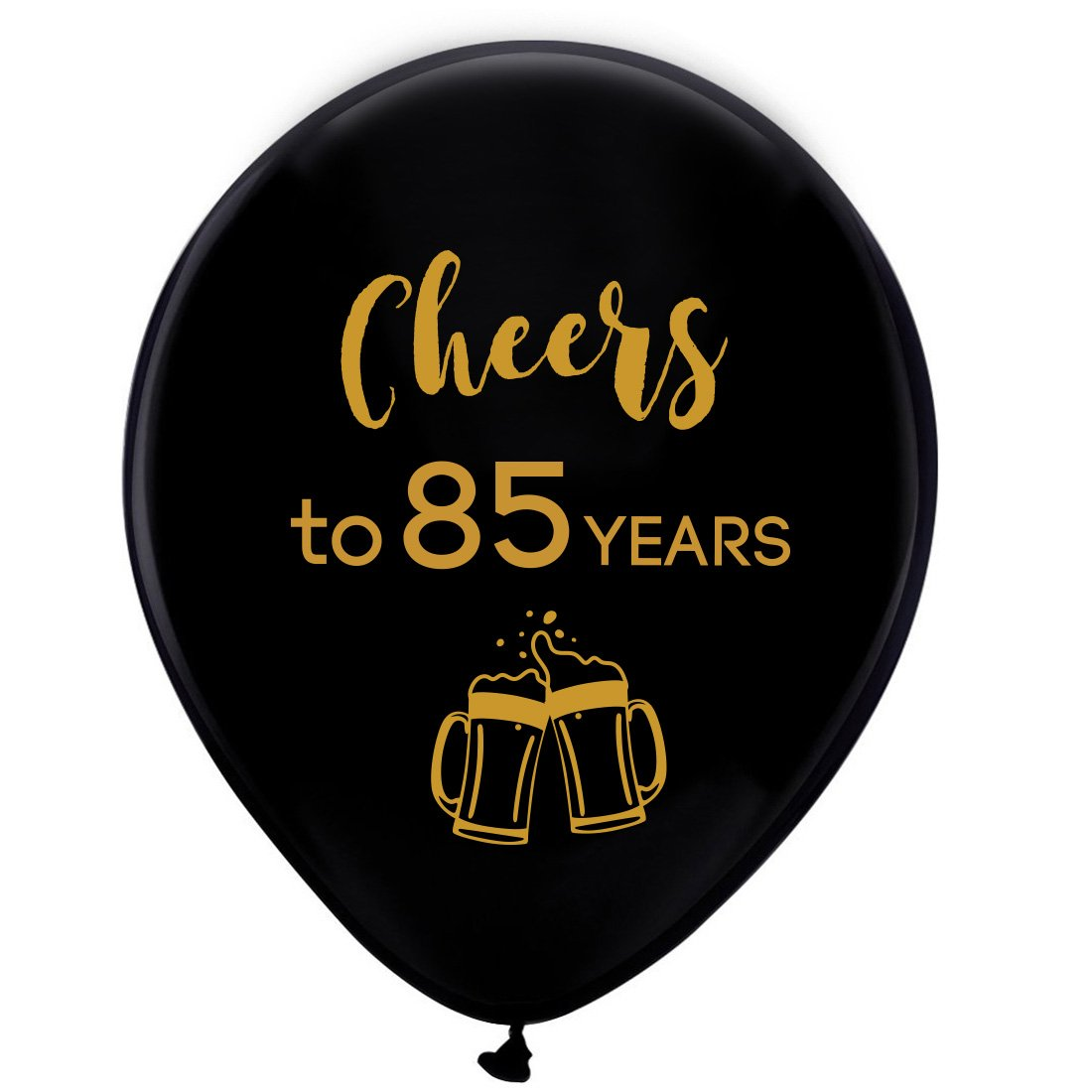 Amazon Black Cheers To 85 Years Latex Balloons 12inch 16pcs 85th Birthday Decorations Party Supplies For Man And Woman Kitchen Dining