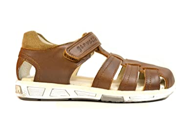 56bc06709 Garvalin Boy s 172490 Brown Casual Leather Sandals  Amazon.co.uk ...