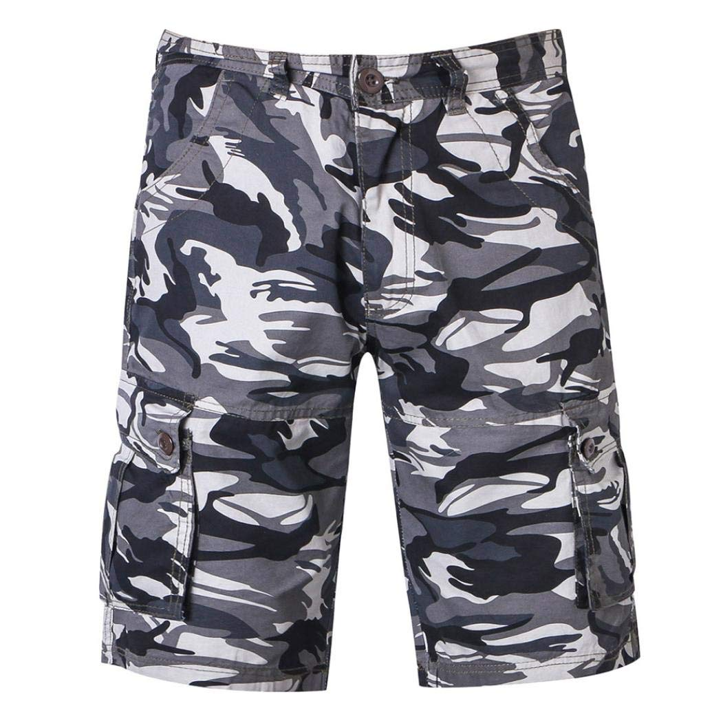 Discount Season Multi-Pockets Casual Cargo Shorts Pants Men Relaxed Outdoors Camouflage Beach Trousers