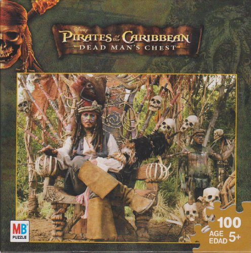 Pirates of the Caribbean 100 Piece Puzzle - Captain Jack Sparrow on Skull Throne -