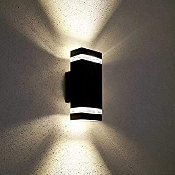 Luz de pared exterior doble LED Luz de jardín al aire libre Luz de pared exterior impermeable Lámpara de mesita de noche: Amazon.es: Iluminación