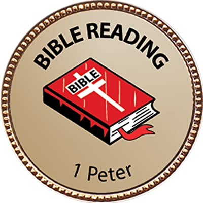 Keepsake Awards 1 Peter Bible Reading Award, 1 inch Dia Gold Pin Bible Reading Achievements Collection: Toys & Games