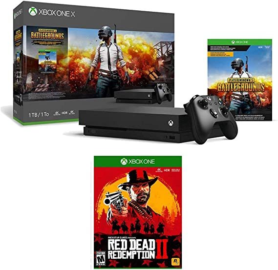 Microsoft Xbox One X 1 TB PlayerUnknown's Battlegrounds with Red Dead Redemption 2