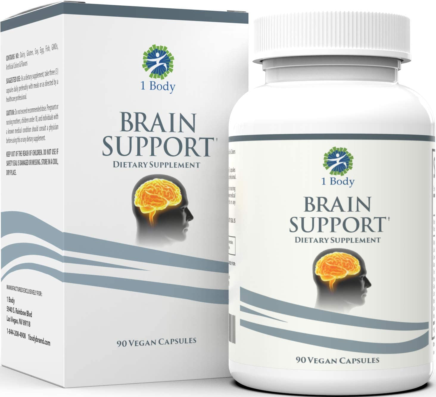 Support Healthy Brain Function with Nootropics, Improve Memory and Boost Focus – Alpha GPC, Lion s Mane Extract, Bacopa Monnieri, Phosphatidylserine, Ginkgo Biloba, Rhodiola Rosea, Huperzine A