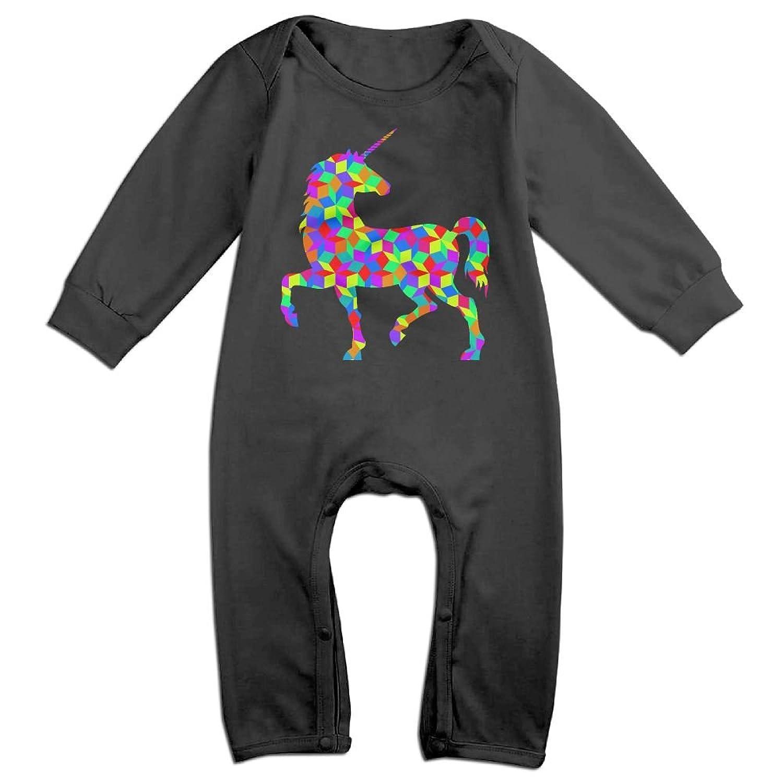 Mrei-leo Baby Boy Girl Jumpsuit Rainbow Unicorn 3 Toddler Jumpsuit