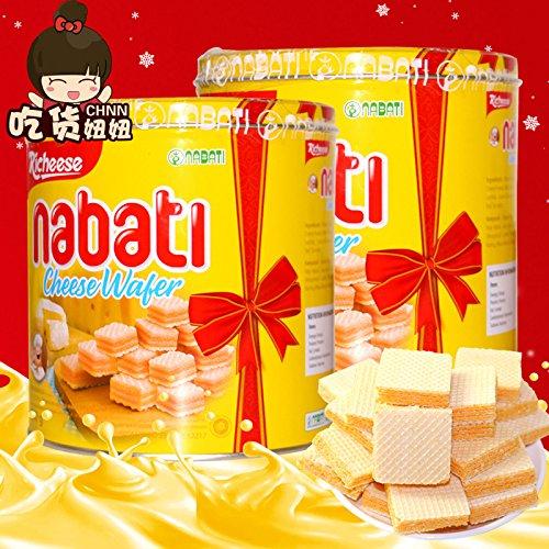 丽芝士nabati芝士奶酪威化饼干350g桶装 印尼进口休闲零食小吃