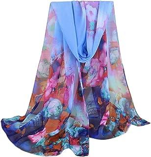 ceintures pour femme, Voberry Fashion Lady Femme Floral Prints Châle en mousseline de soie Écharpe