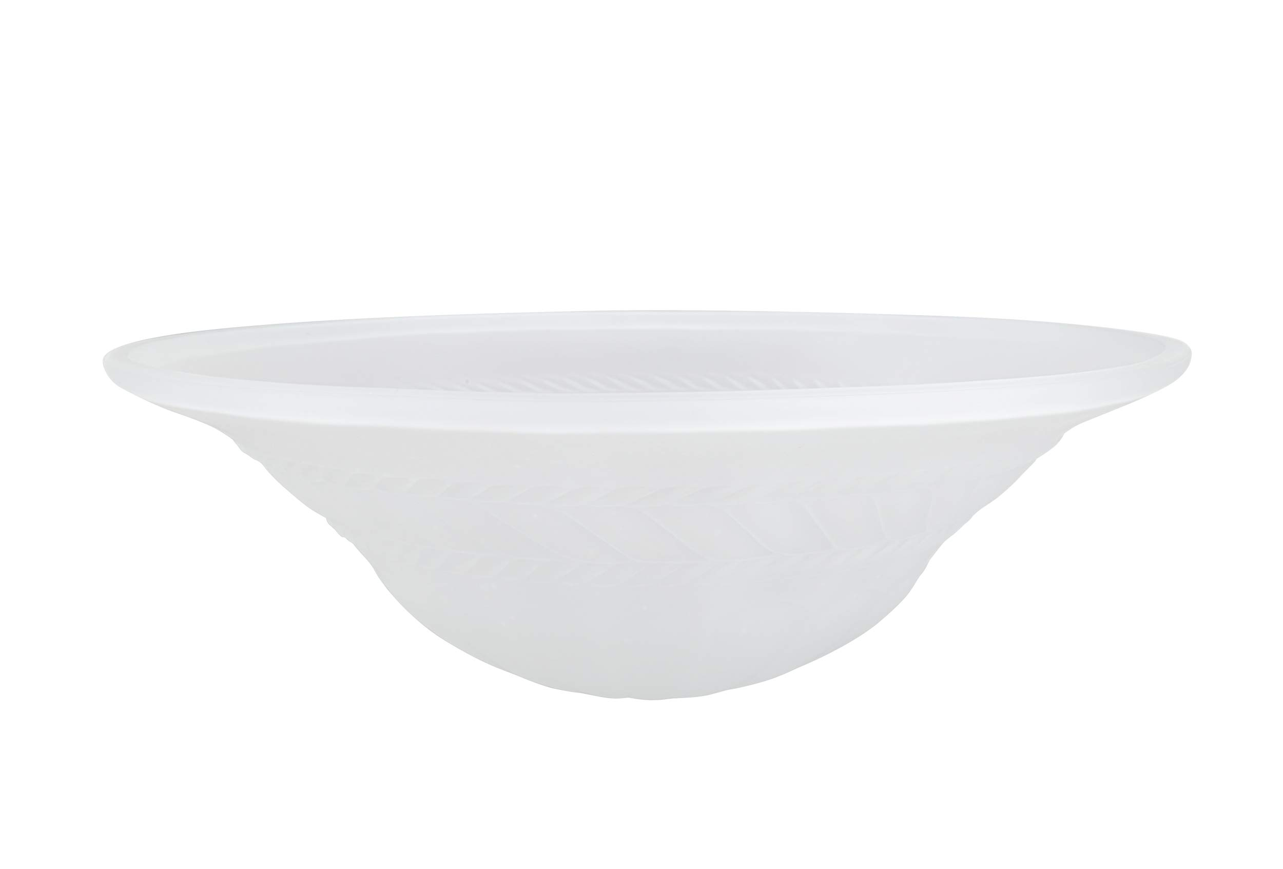 Aspen Creative 23070-01 Frosted Transitional Style Torchiere Shade, 6-7/8'' high x 20'' Diameter Replacement Glass,