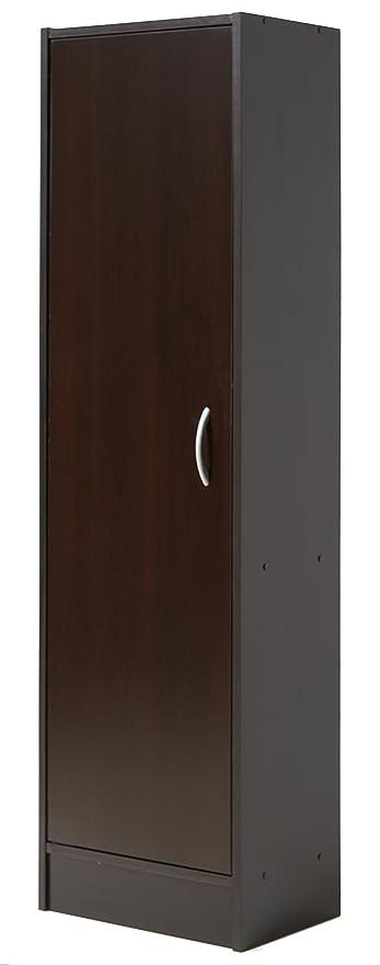 Superbe Mylex Single Door Pantry, Three Adjustable And One Fixed Shelf, 59.5 H X  16.3