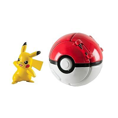 Pokemon Throw N Pop Poke Ball with Pikachu Action Figure Toy Set: Toys & Games