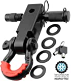 "motormic Unique Shackle Hitch Receiver 2"" + 5/8"" Trailer Lock Pin and 3/4"" D Shackle (35,000 lbs Max Capacity) – Heavy…"