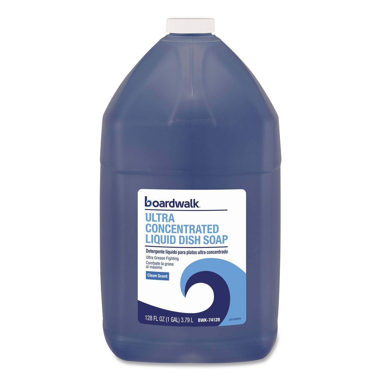 Boardwalk Ultra Concentrated Liquid Dish Soap, Clean, 1 gal, 4/Carton by Boardwalk