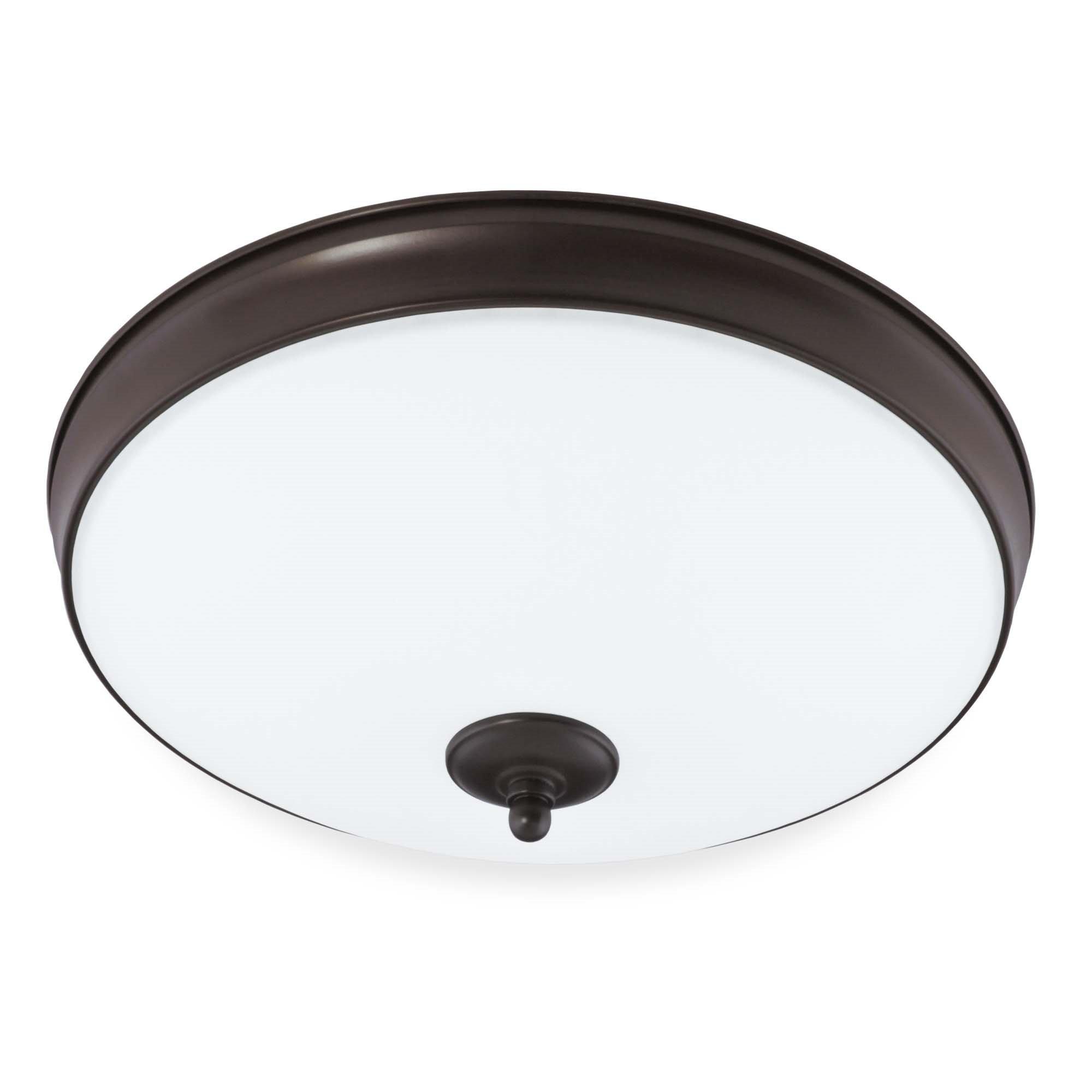 Good Earth Lighting Legacy 15-inch LED Flush Mount Light - Bronze