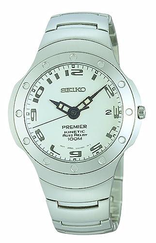 Seiko SMA165P1 - Reloj analógico automático para Hombre con Correa de Acero Inoxidable, Color Plateado: Seiko: Amazon.es: Relojes