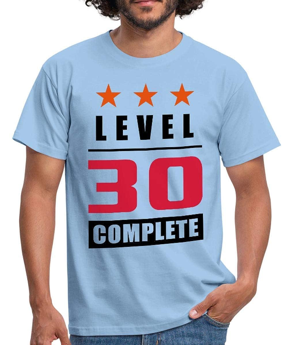 Spreadshirt Level 30 Complete - 30th Birthday Men's T-Shirt D143015502-PT6-1