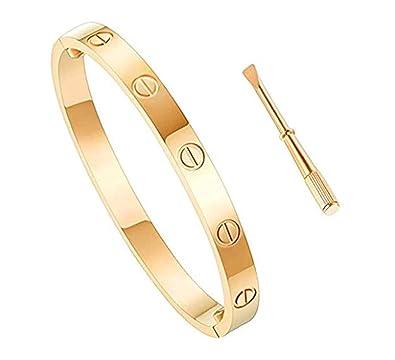 0a4ef38326aba Love Bracelet Stainless Steel Cuff Bangle Titanium Steel Screws Womens  Bracelet