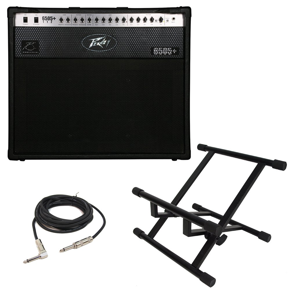 Peavey 6505 Plus 112 Electric Guitar 60W Combo Amp 12'' Speaker Amplifier & Stand (Renewed) by Peavey