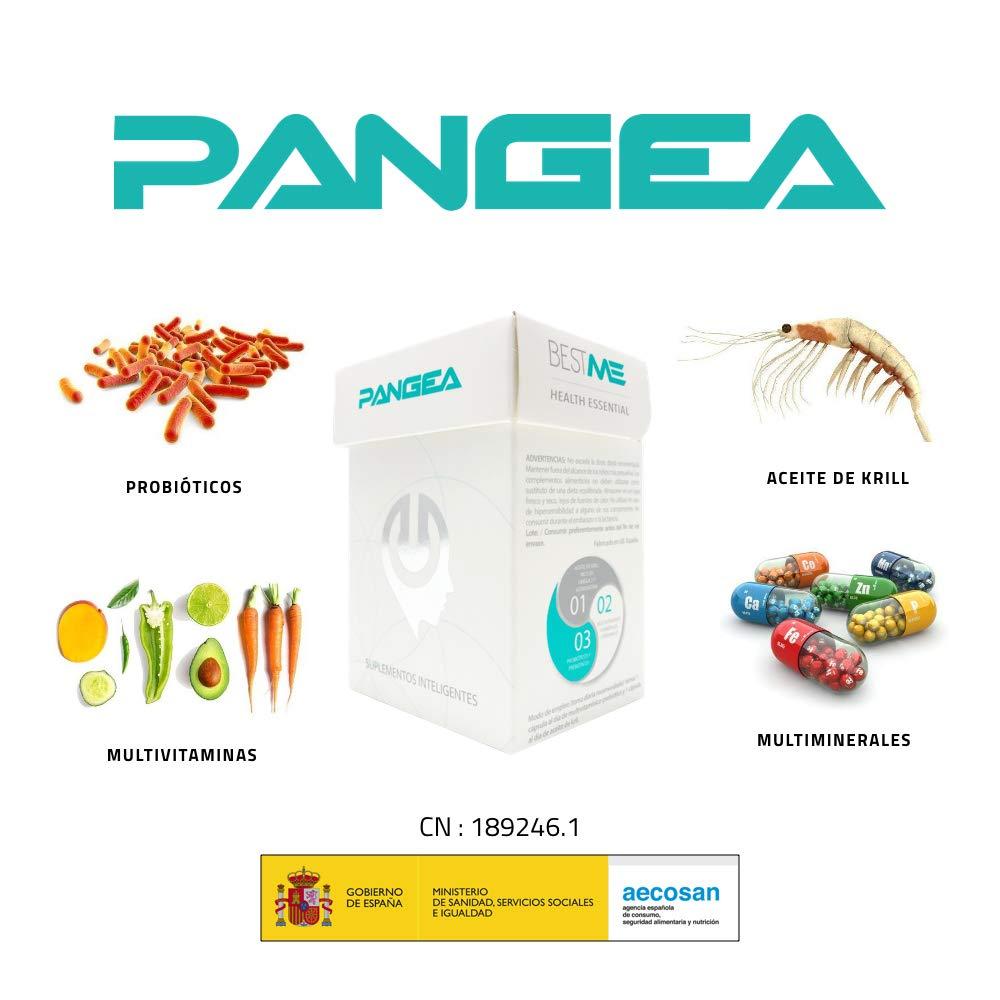 Bestme Pangea: Formula Avanzada 4 en 1 : Aceite de Krill Ártico Rico en Omega 3 , Astaxantina Epa Dha Probióticos (Lactobacillus , Bifidus 12 ...