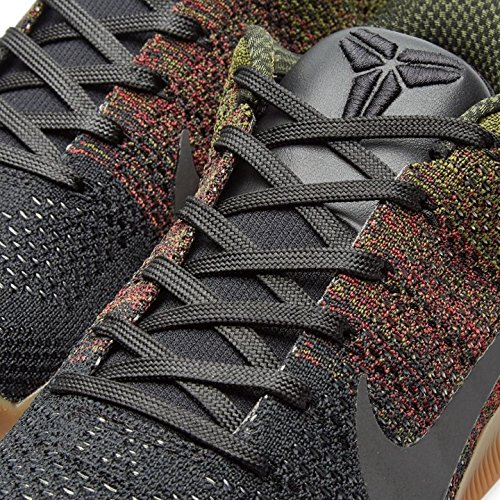 Nike Mens Kobe Xi Elite Low 4kb Scarpe Da Basket Nere (nero / Squadra Rosso-verde Grezzo)