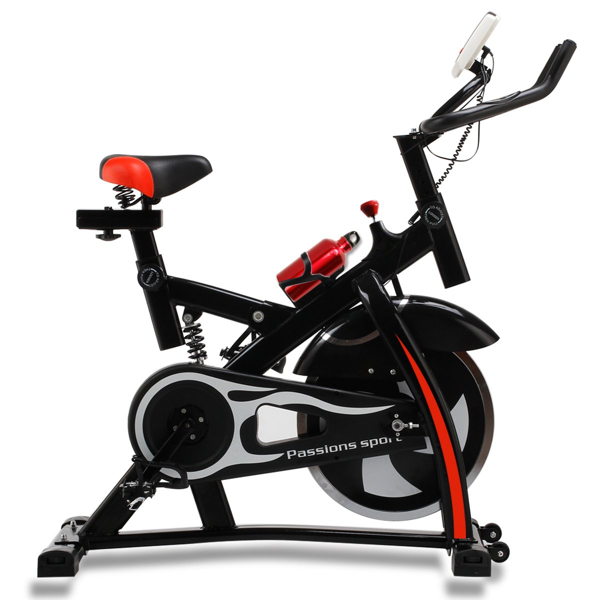 エスティージェ スピンバイクプラス  STJ spinbike plus 防振 超静音 耐荷重250kg  フィットネスバイク ダイエット 健康 ウォーカー B01M8QAWPA  ブラック