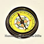 Nautical World Antique Brass Compass Open FACE Gift for Men & Woman Steampunk Navigation 9