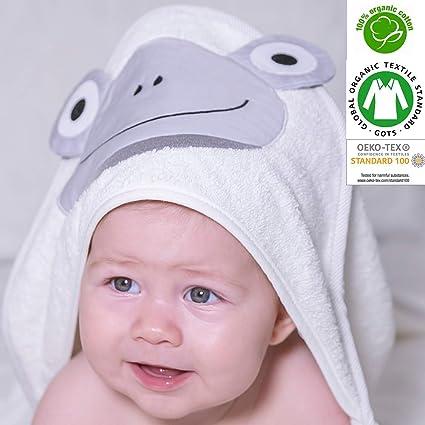 Orgánico Bebé Toalla con capucha 100% con certificado, apto para recién nacido a 2
