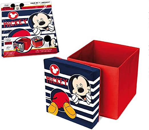 Disney LR3054 Mickey - Caja de juguetes plegable (31 x 31 x 33 cm ...