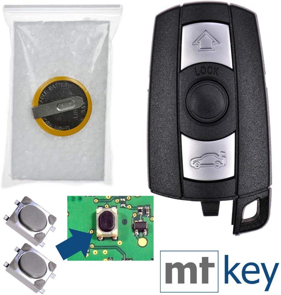 Autoschlüssel Funk Fernbedienung Austausch 3 Tasten Gehäuse Mikrotaster Akku Kompatibel Mit Bmw