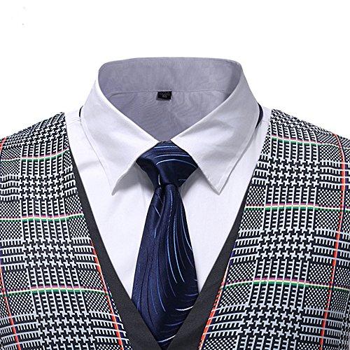 Men Coats Hot WEUIE Men Casual Printed Sleeveless Jacket Coat British Suit Vest Blouse (5XL, Gray) by WEUIE (Image #4)