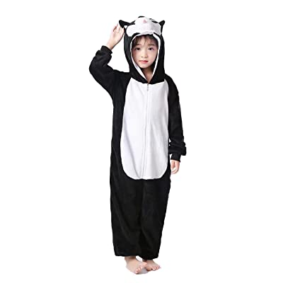 Kids Animal Onesie Cartoon Pajamas Christmas Halloween Cosplay Costume 3-8 Years: Clothing