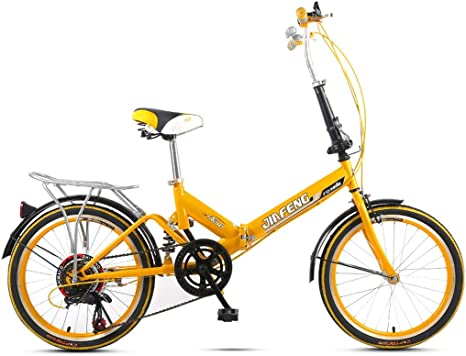 Weiyue Bicicleta Plegable- 20 Pulgadas de Velocidad Variable ...