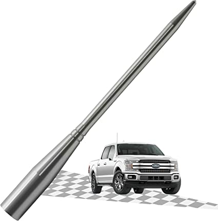 3 Inches Elitezip Replacement Antenna for Mazda Miata 1992-1998 Optimized AM//FM Reception with Tough Material Silver/Titanium