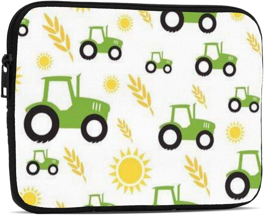 Tractor Farming Laptop Tablet Bag Case 7.9 Inch Laptop Sleeve Protective Soft Lining Shockproof Computer Bag Carrying Bag