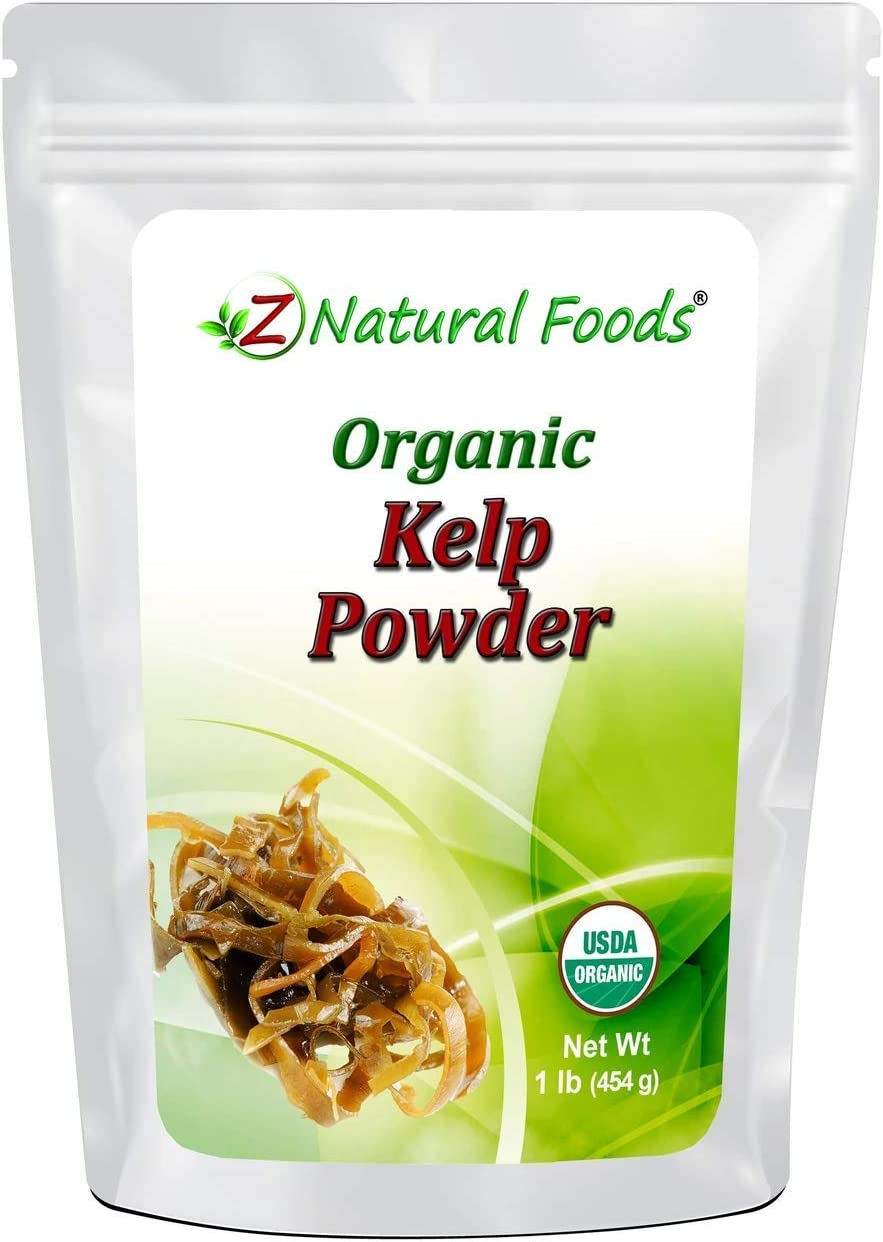 Organic Kelp Powder (Rockweed) - Nutrient Rich Sea Vegetable - Plant Based Superfood - Harvested in Nova Scotia, Canada - Raw, Vegan, Non GMO, Gluten Free, Kosher - 1 lb