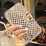 iphone 5 case bling crystal - iPhone SE Wallet Case,Inspirationc and Made Luxury 3D Bling Crystal Rhinestone Leather Purse Flip Card Pouch Stand Cover Case for iPhone SE/5S/5--Silver