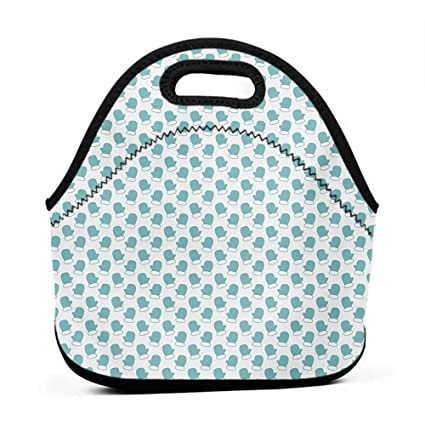 6bdf9660eb06 Amazon.com: Convenient Lunch Box Tote Bag Turquoise, New Years ...