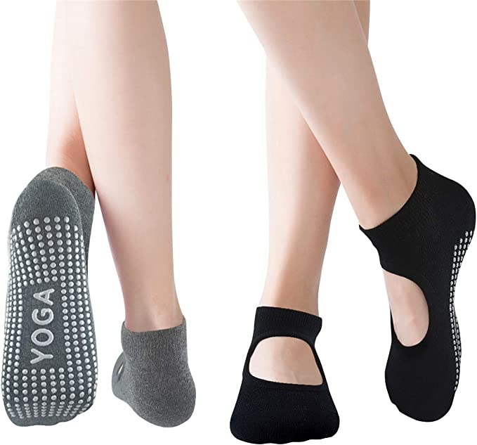 Pilates Socks Barre Socks, Yoga Socks for Women Non-Slip Grip Socks, Ideal for Ballet, Barefoot Workout, Dance, Fitness