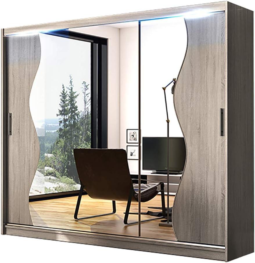 Armario de puertas correderas con espejo moderno para dormitorio ...